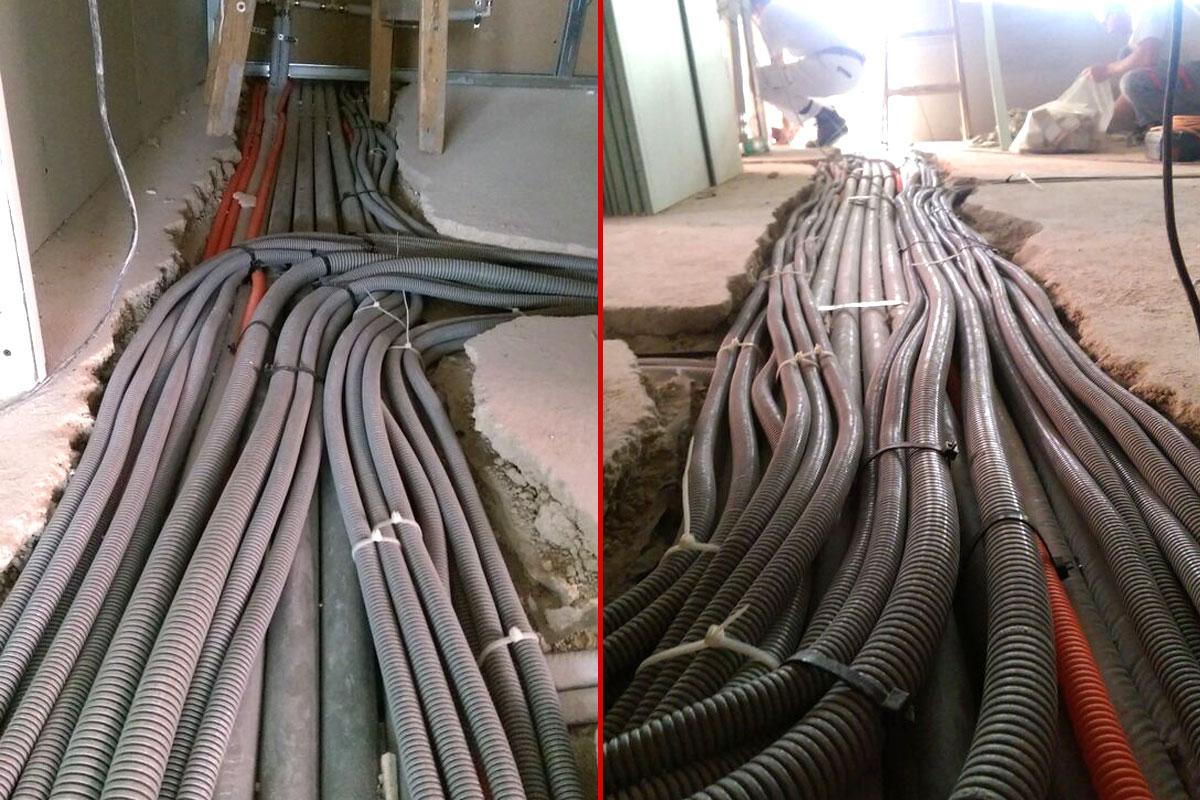 polaganje električnih kablova - elektromont